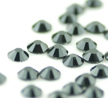 ss16 crystal jet black hot-fix rhinestones superb round glue