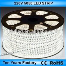 High voltage 100m/roll 5050 led strip 220v