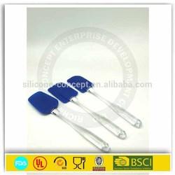 Hot sale easy flex 3-piece silicone spatula set blue kitchen utensils