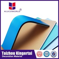Alucoworld Exquisite Workmanship Aluminum Composite Panel fireproof brick panels acp
