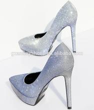 Latest stiletto pointed toe party shoe,high heel platform pump women shoe