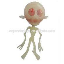 TPR skeleton splat ball, glow in dark skeleton