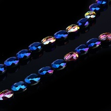 2015 fashionable lead free flat back loose crystal fancy glass beads