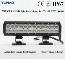 13.5 inch car roof light bar off road, IP67 truck headlight, 72W offroad led light bar