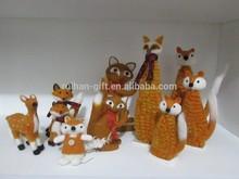 2015 new 100% pure wool felt home desk decor for christmas fox
