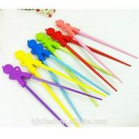 Mini Plastic Chopsticks With Silicone Guides Animal Shape Silicone Chopstick