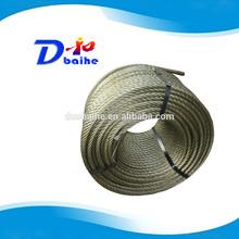 Ungalvanized steel wire rope lubricated