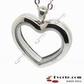 l0371 acciaio inox argento cuore colore magnetico fluttuante medaglione