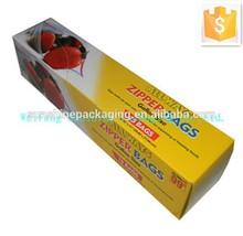 Food paper packaging box for zipper bag