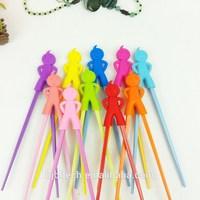 FDA & SGS Children's Silicone Chopsticks-Helper Animal Shpaed Designing