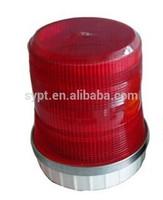 12v 24v tall led dome red beacon light for police car
