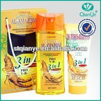 2015 New Arrival! 420g ginseng shampoo+200ml ginseng conditioner herbal hair darkening shampoo