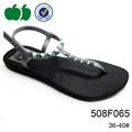 negro con estilo nuevo tanga sandalias