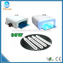 White UV Gel Nail Art Lamp Dryer Manicure Timer 36W uv nail dryer