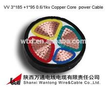 VV 3*185 +1*95 copper Core 0.6V/1KV PVC Insulation PVC Sheath Electrical copper core cable 16mm