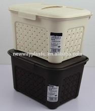 Euro style small size white and brown kitchen storage box