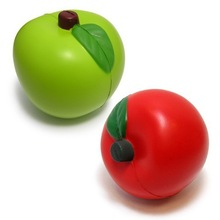 soft foam pu squeeze toy apple stress toy