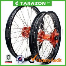 China madeTarazon brand CNC aluminum spoke wheels for pit bikes
