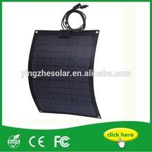Semi flexible solar panel 50W 18V Fiberglass panels for RV and golf car