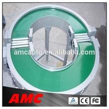 180 degree curve belt conveyor system