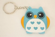 cute owl design Keychain mirror compact travel mirror great birthday gift