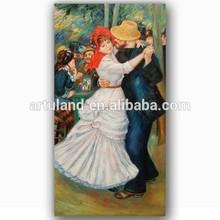 High quality impressionist beautiful waltz dancing girl painting