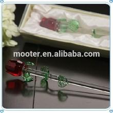 Cheap Abundant Glass Rose Souvenir For Wedding Gifts