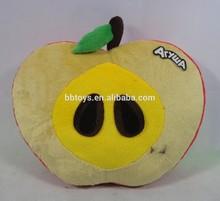 Top quality plush fruit animal shaped pillow stuffed Apple shaped cushion