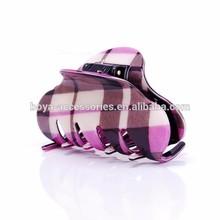 AICCYO fashionable Stripe printed large acrylic hair claw clip