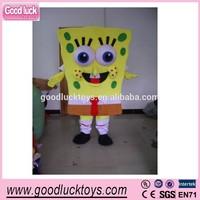 advertising Spongebob squarepants mascot costume,fur mascots/party cartoon costumes