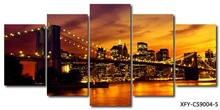 2015 hot sale large assembled canvas picture wall art wholesale