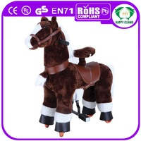 HI CE funny aniaml rider large plush horse moving horse toys for kids