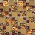 galvanizado de oro rojo y seleccionar de cristal del azulejo del mosaico