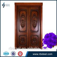 Solid oak Double Swing Main Entrance double wood door