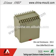 SH23-3 Flame retardant ABS electronic standard din-rail enclosure with terminal block