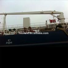 Electric Hydraulic Unload Crane on deck of boat, vessel, cargo ship