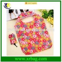 fashion printed pattern polyester folding shopping bag