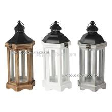 Hexagon wooden lanterns 3 diff styles candle lanterns metal lanterns