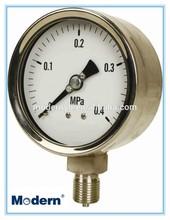 Stainless steel pressure gauge 0.4MPa