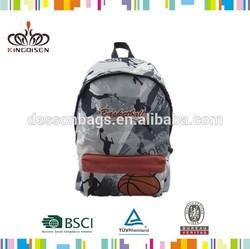 300D/PVC basketball pattern men's backback school bag