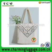 girl's canvas recycle reusable shopping bag with custom logo