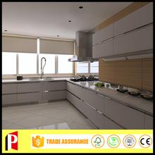 white melamine kitchen cabinet kitchen furniture Metal Edge