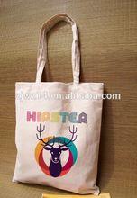 pvc coated cotton shopper tote bags/ xmas gift bags with cotton handle/ xmas gift bags
