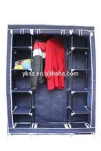 made in china non-woven fabric folding caster wardrobe sliding