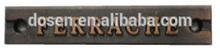 Customized stainless steel wire metal plate logo /handbags metal plate logo .