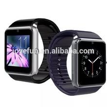 GT08 TFT high resolution screen stainless steel gsm smart watch digital bluetooth watch