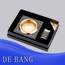Factory Direct Wholesale Ashtray Exquisite cigar ashtray with leather ashtray