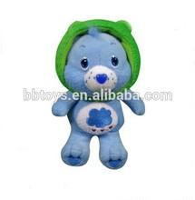 Top quality soft plush teddy bear, stuffed cartoon animal keychain toy