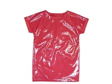 newest summer artificial leather T-shirt for lady