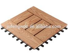 interlocking composite deck tiles for outdoor floor